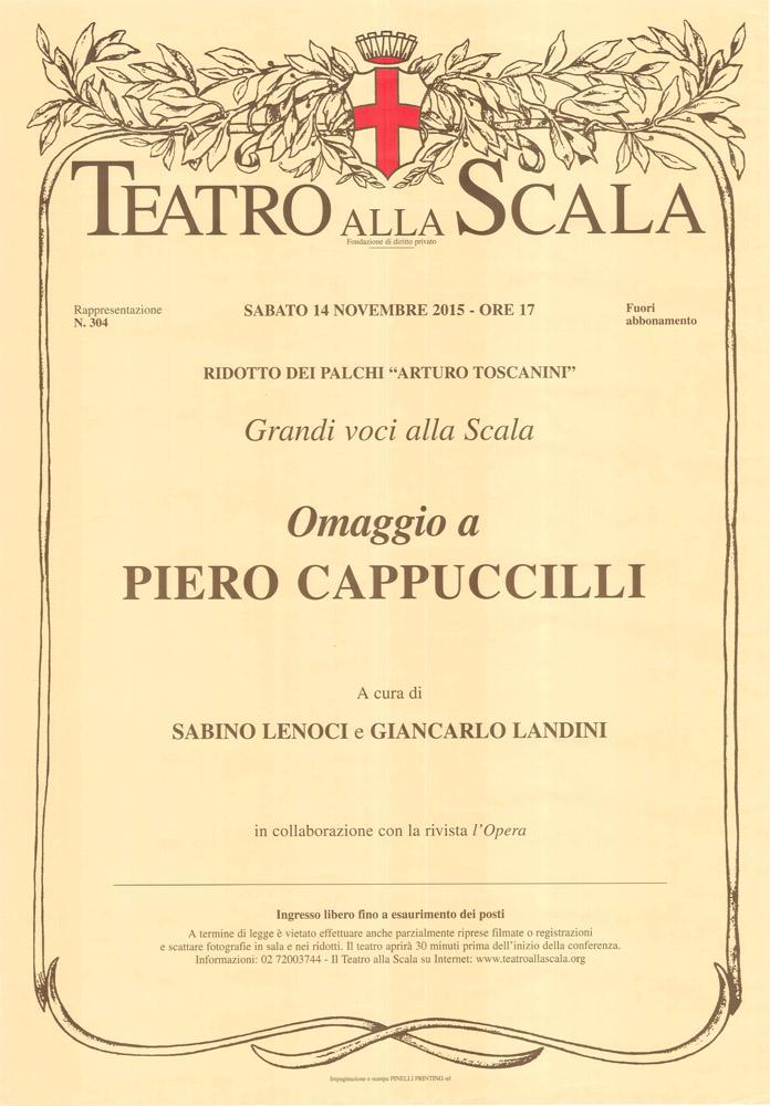 Teatro alla Scala 14 nov. 2015